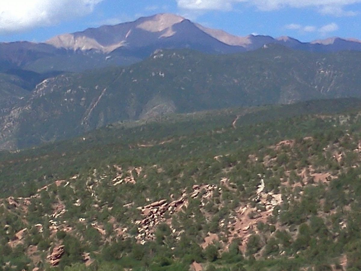 Looking up at Pikes Peak