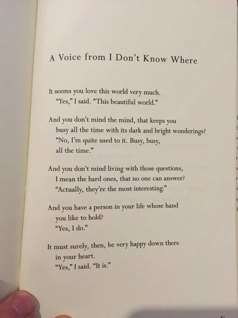 The Voice by Mary Oliver